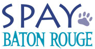 Spay Baton Rouge (Baton Rouge, Louisiana) logo is the organization name with a pawprint