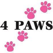 Sun Cities 4 Paws Rescue (Youngtown, Arizona) | logo of four pink paw prints, Sun Cities 4 Paws Rescue Inc.