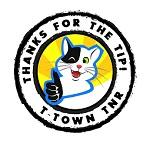 T-Town TNR (Tulsa, Oklahoma) logo with black and white cat giving thumbs up in circle