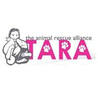 The Animal Rescue Alliance (Raytown, Missouri) | logo of woman hugging dog, cat, TARA, paw prints, The Animal Rescue Alliance