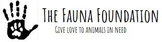 The Fauna Foundation (Malibu, California) logo pawprint on human hand
