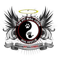 The Pit Bull Crew Dog Rescue (Moose's Legacy) (Naples, Florida) | logo of yin yang, handprint, paw print, halo, angel wings