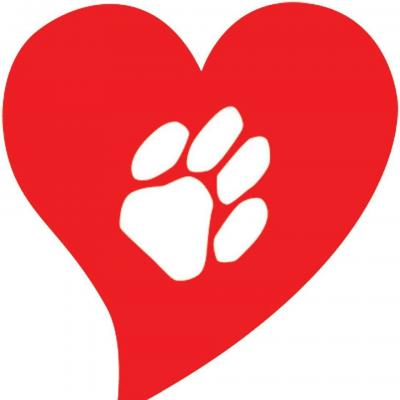 Touched By An Animal (aka) Cats-Are-Purrsons-Too (Chicago, Illinois) logo pawprint in heart