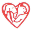 Union County Humane Society (Marysville, Ohio) | logo of red heart with a hand holding a cat and dog