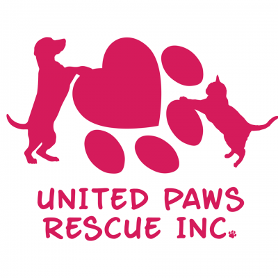 United Paws Rescue Inc (Ocala, Florida) logo cat dog and pawprint