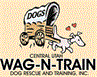 Central Utah Wag-N-Train (Ephraim, Utah) logo has a dog pulling a covered wagon
