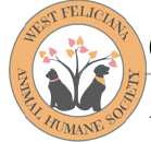 West Feliciana Animal Humane Society (St. Francisville, Louisiana) | logo of black dog, black cat, tree, heart leaves