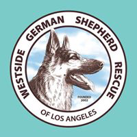 Westside German Shepherd Rescue NKLA (Los Angeles, California) | logo of blue circle, Westside German Shepherd Rescue of LA