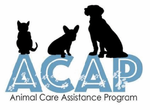 Animal Care Assistance Program - ACAP (Louisa, Virginia) logo with dogs and cat