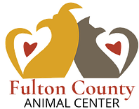 Fulton County Animal Adoption and Education Center (Rochester, Indiana) logo with dog, cat, hearts