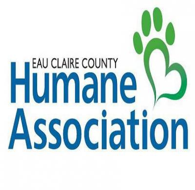 Eau Claire County Humane Association (Eau Claire, Wisconsin) logo with pawprint heart