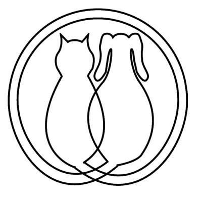 Floyd County Animal Rescue League (New Albany, Indiana) logo with dog and cat in circle
