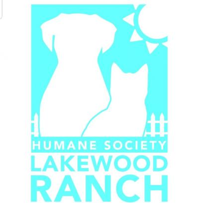 The Humane Society at Lakewood Ranch (Myakka City, Florida) logo with dog and cat in sunshine