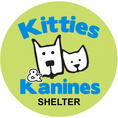 Kitties and Kanines Shelter (Fort Smith, Arkansas) logo dog and cat face outlines in green circle