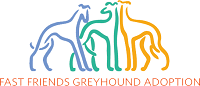Fast Friends Greyhound Adoption (Swanzey, New Hampshire) logo of greyhounds