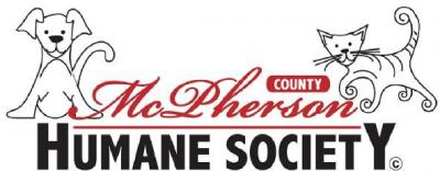 McPherson County Humane Society (McPherson, Kansas) logo with dog and cat on organization name