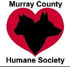 Murray County Humane Society (Chatsworth, Georgia) logo is a dog head and cat head inside a heart plus the organization name