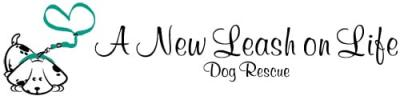 New Leash on Life Dog Rescue (La Crosse, Wisconsin) logo of white dog with black spots, green leash, heart
