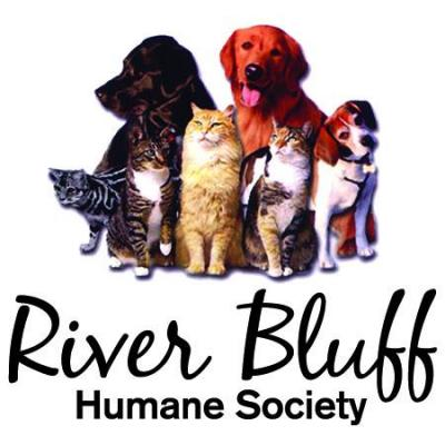 River Bluff Humane Society (Red Wing, Minnesota) logo with dogs and cats