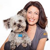 Lisa Edelstein and dog