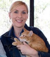 Jennifer Stepic and orange tabby cat