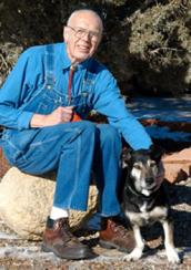 Richard who died of cancer with his adopted dog from Best Friends Animal Sanctuary