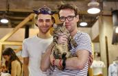 Margot the tabby cat is adopted