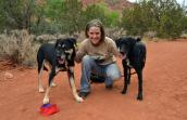 Katie and her two dogs