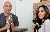 Becky Verona and Peter Kabachnik with foster kittens from Furrever Friends in New Jersey