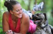 Alfie the Best Friends Guardian Angel program dog with Lynette