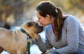 Ori-pei dog and woman