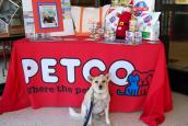 PETCO booth during the National Pet Food Drive