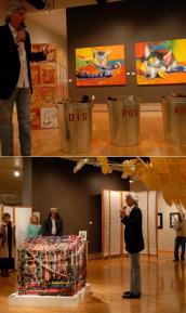 Cyrus Mejia at art show