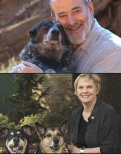 Two Michael Vick seminar speakers and their dogs