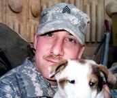 Peter and Boris the puppy from Iraq