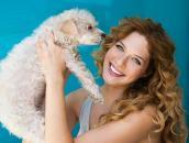 Rachelle Lefevre and dog