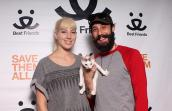 Jamie Charapata and Lily the kitten are now a family