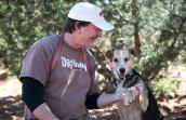 Dogtown caregiver Tom with Sequoia
