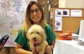 Yesenia Torres reunited with Buddy the poodle at the Pet Reunion Pavilion at the NRG Arena