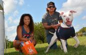 Olivia Robles and Jacob Blazi fell in love with Maui the dog from San Antonio Pets Alive