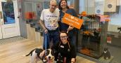 Dallas the dog getting adopted from the Best Friends Lifesaving Center in New York after being featured on Animal Planet