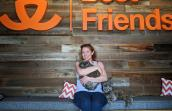 Holly DeYoung adopting both Roly Poly and Cinnamon the cats at the Best Friends Visitor Center
