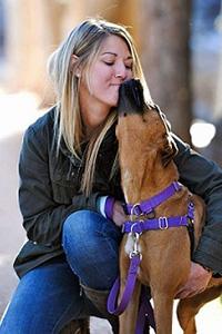 Tierney Sain with a dog