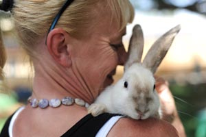 Snuggle bunny Page and woman