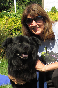 Mary Ann Smith with Charlie the chow mix
