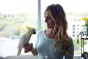 Angel the cockatoo and Cassandra