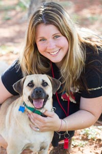 Kara with a new canine friend