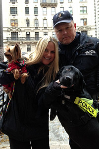 New York Police Department K9s received a blessing at the Blessing of the Animals