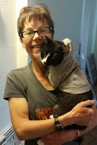 Carl the former community cat found a home