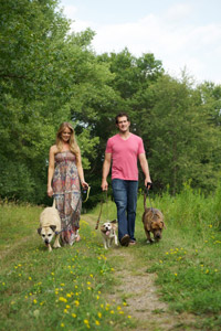 David and Kelly Backes with their dogs